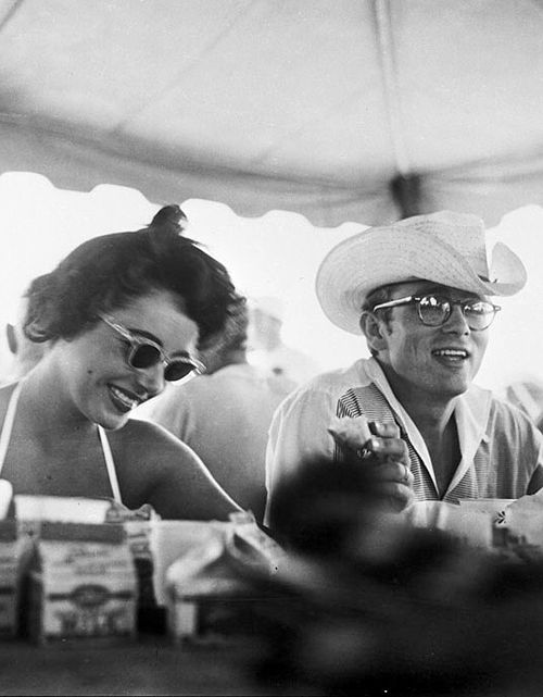 Elizabeth taylor and james dean on the set of giant in 1955 celluloid pinterest - Star porno diva ...