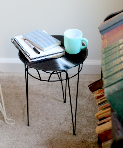 A record end table. Photo: The Flourishing Abode