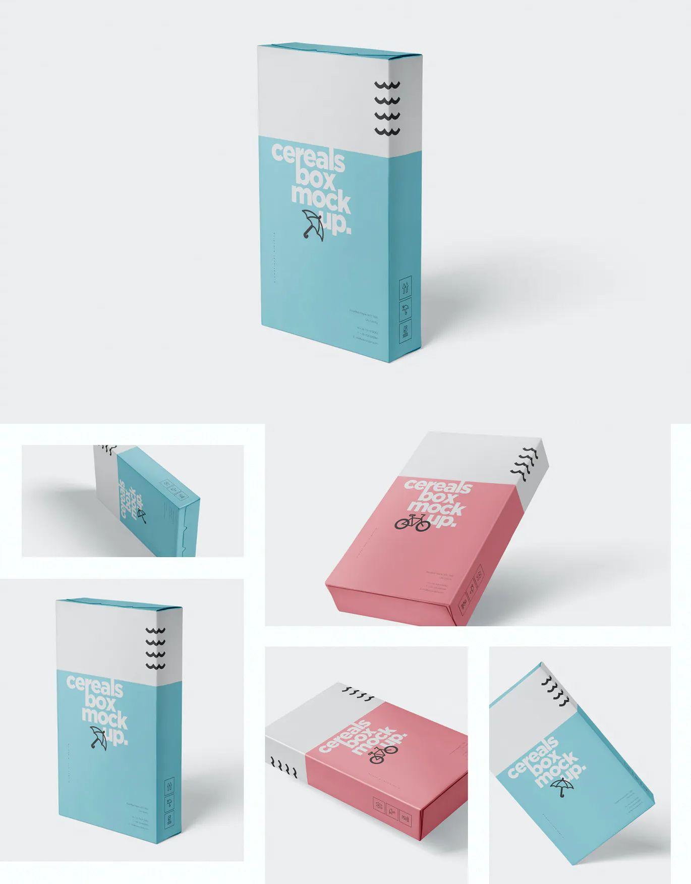 Cereals Box Mockup Slim Size Box By Gfxfoundry On Envato Elements Box Mockup Cereal Box Mockup