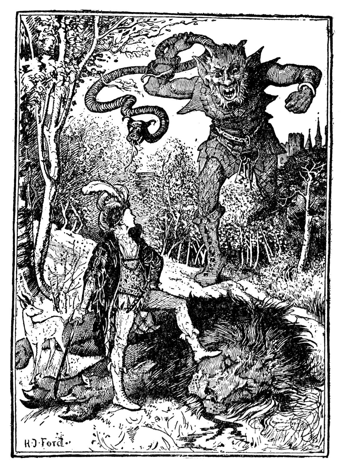 Henry Justice Ford - The green fairy book, edited by Andrew