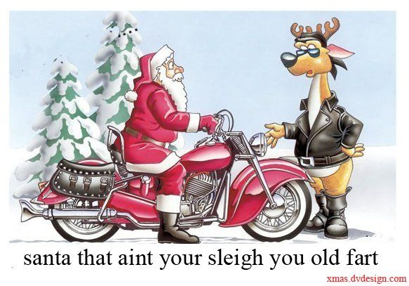 Biker Christmas Motorcycle And Biker Christmas Santa Biker With