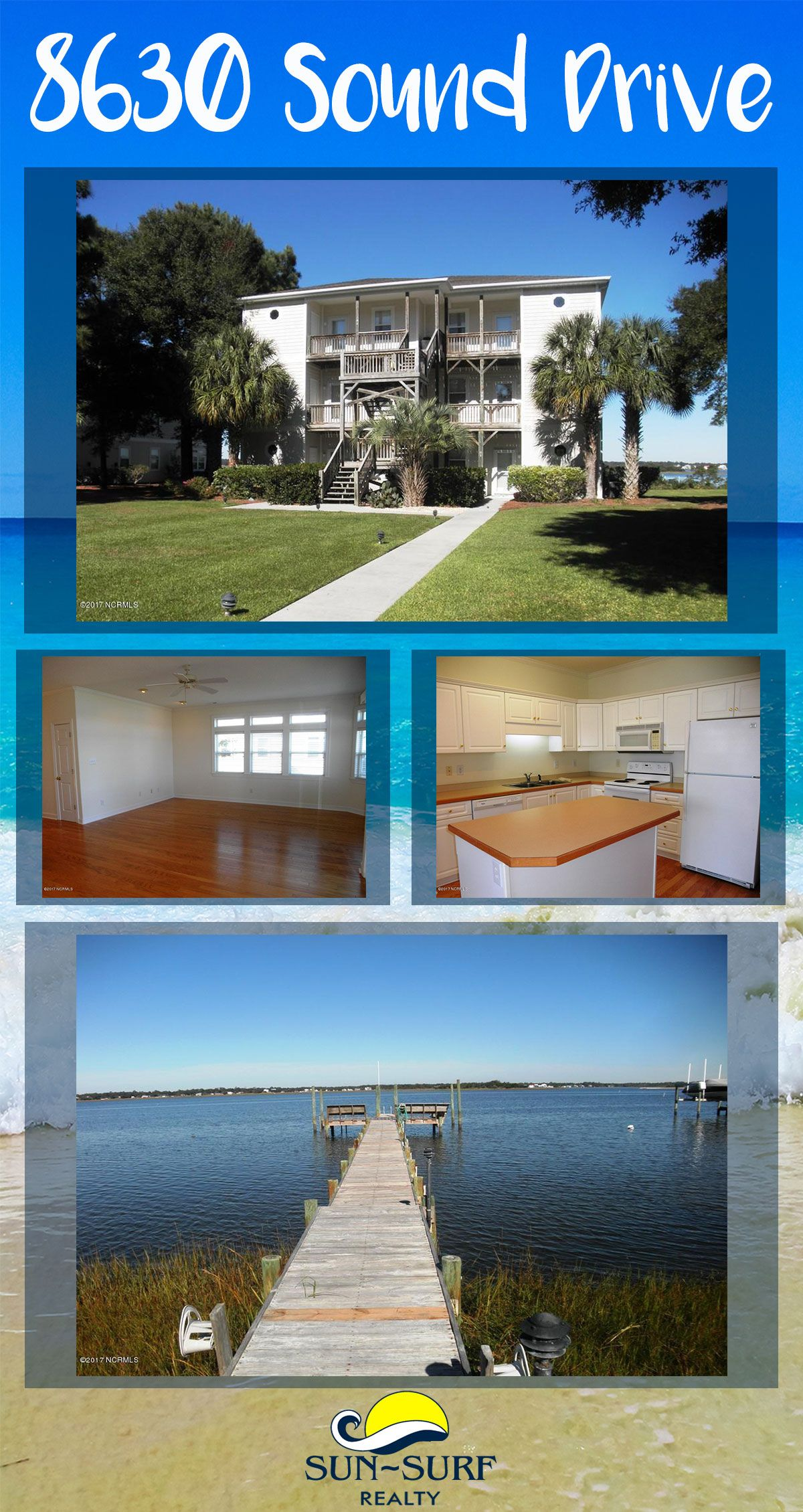 FOR SALE: This direct soundfront condo is located on the 2nd floor and on the west side. You can own a slice of paradise and have amazing views of bogue sound, the EI bridge and sunset. 2 bedrooms/2 baths. Call for a viewing appointment today!
