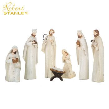 Distressed White Nativity Set White Nativity Set Nativity Set Hobby Lobby Christmas