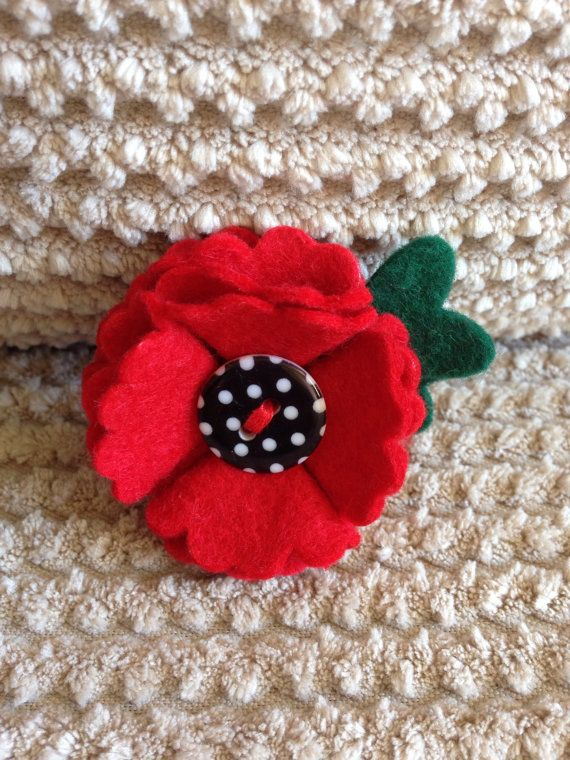 Charity poppy felt poppy flower badgebrooch 100 of sale price the price is higher than before as i would like to raise as much money as possible for the poppy appeal mightylinksfo