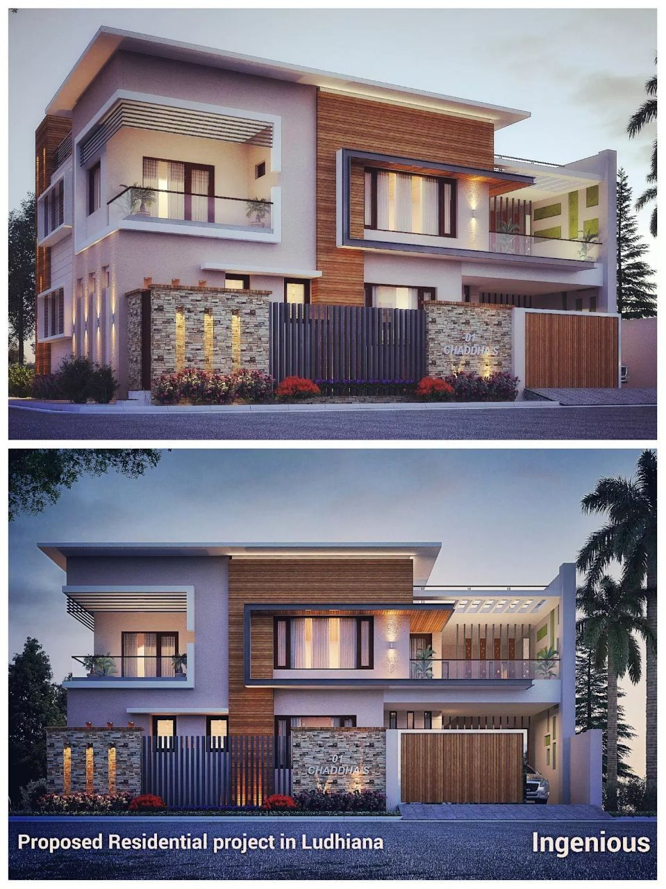 Ludhiana modern houses modern bungalow house plans unusual houses house front design