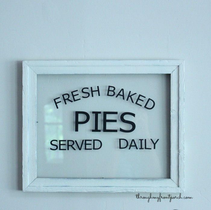 Cricut Explore Fresh Baked Pies Sign | Pinterest
