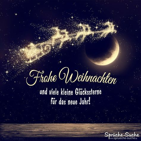 Frohe Weihnachten und viele kleine Glückssterne fürs neue Jahr!