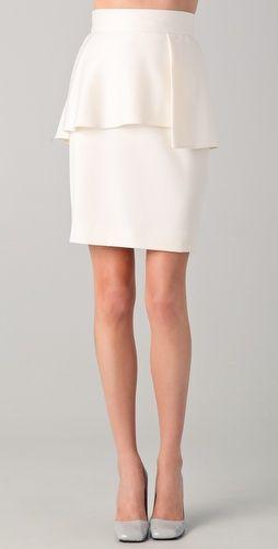 asymmetrical peplum skirt