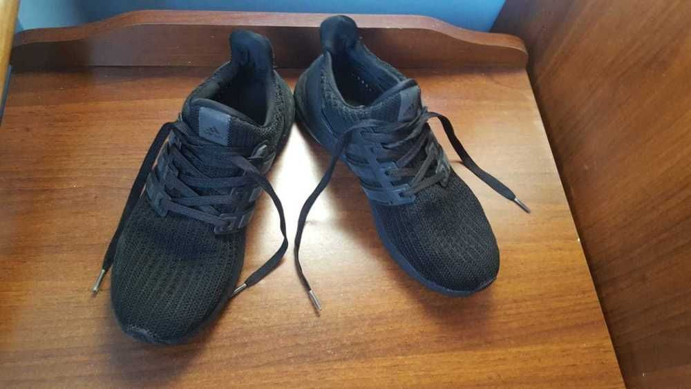 15d5fe4df Adidas Ultra Boost 4.0 ZIP trend BA9823 casual running shoes Triple Black   fashion  clothing