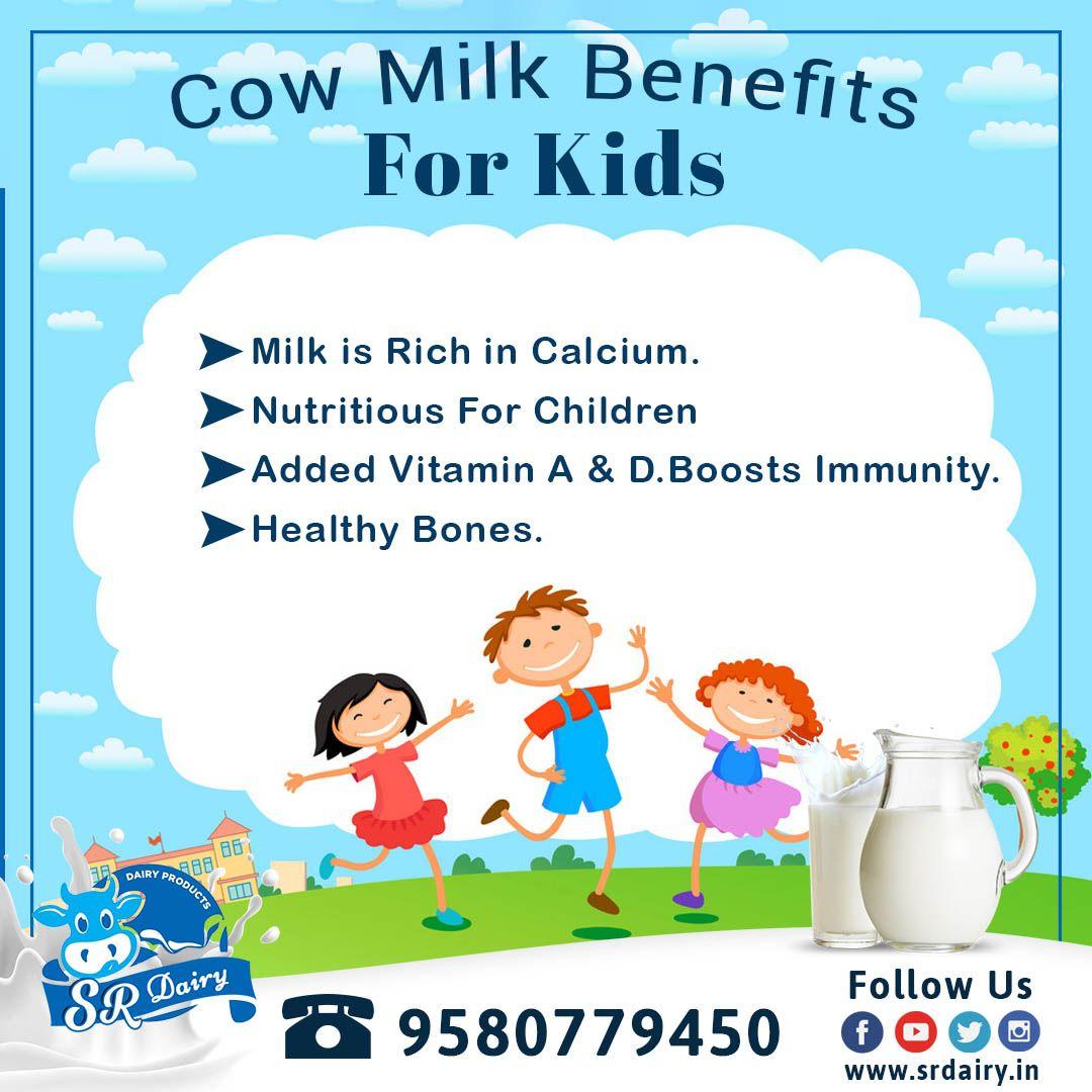 Cow milk benefits for kids in 2020 Milk benefits, Cow