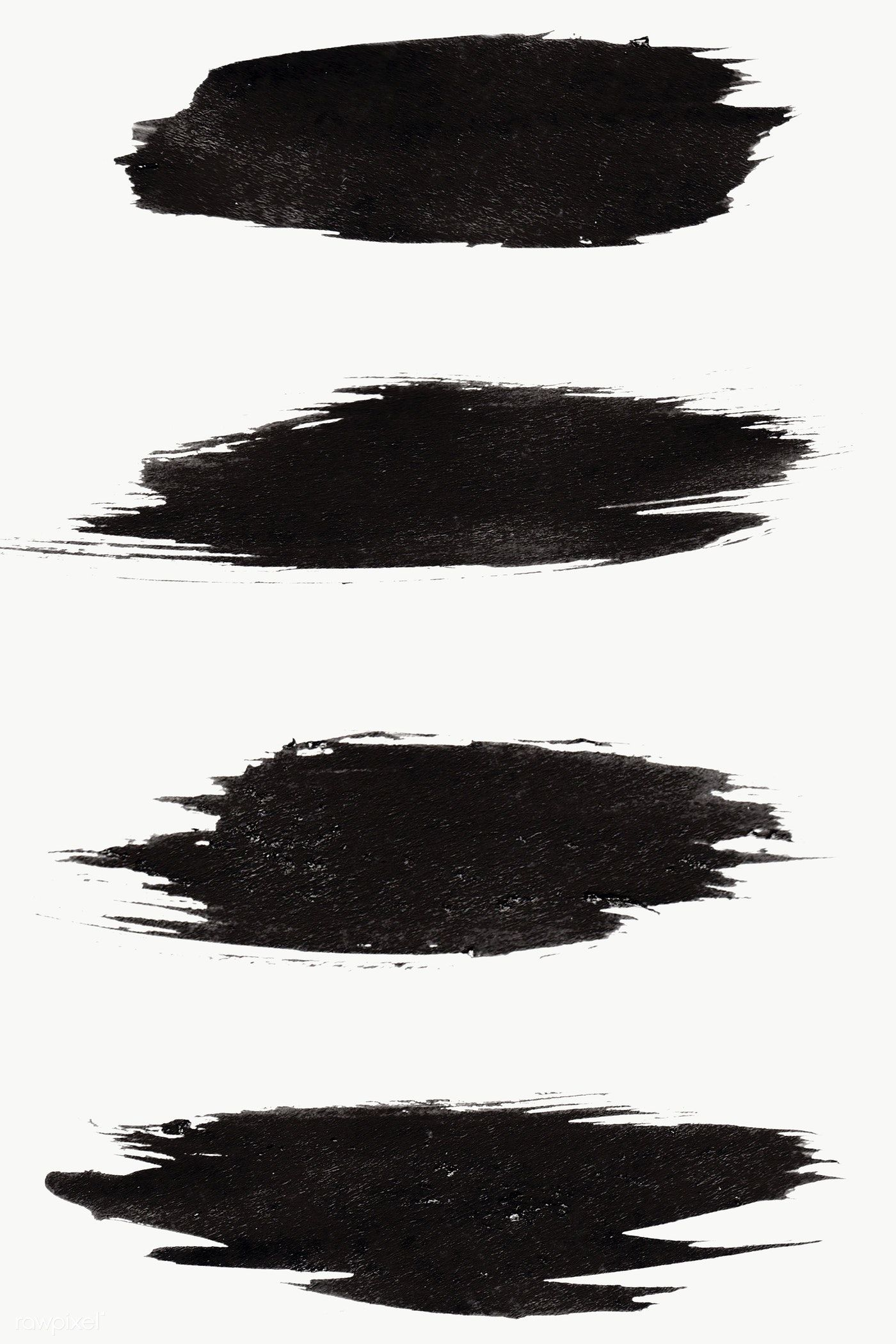 Abstract Black Brush Stroke Set Transparent Png Free Image By Rawpixel Com Nunny Brush Stroke Png Photoshop Watercolor Brush Strokes