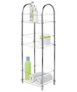Luxury Look High Quality Chrome 3 Tier Organiser Bathroom Storage Unit Ideal Solution
