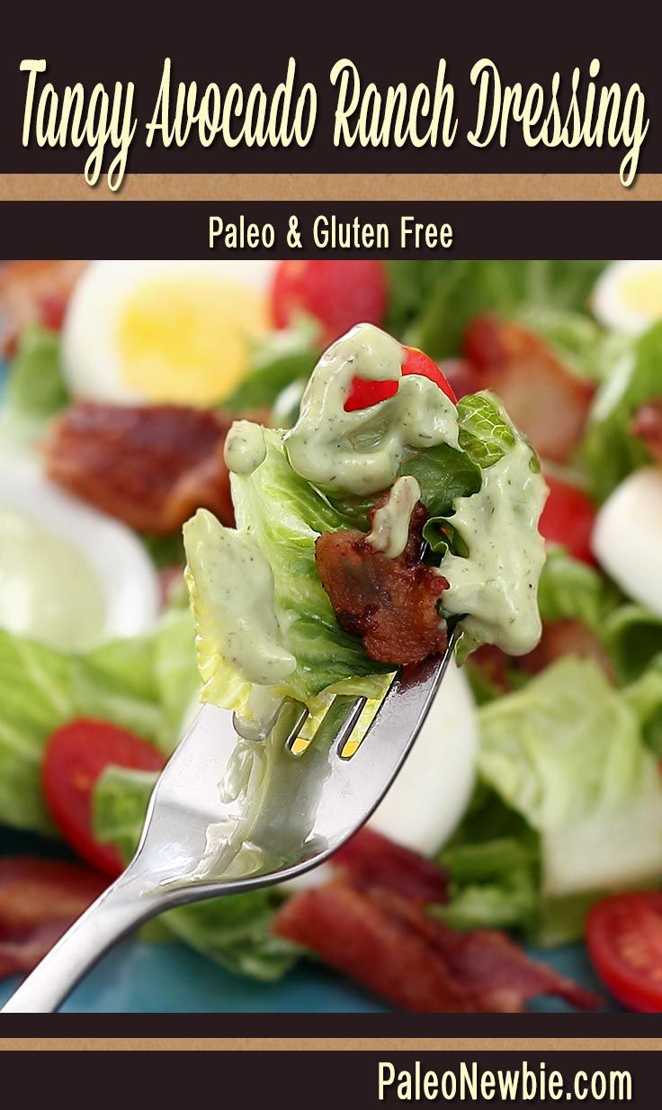 Paleo Blt Salad With Tangy Avocado Ranch Dressing Recipe Paleo