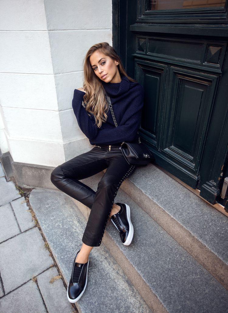 Lederhose für Damen gekonnt kombinieren 20 Street Style