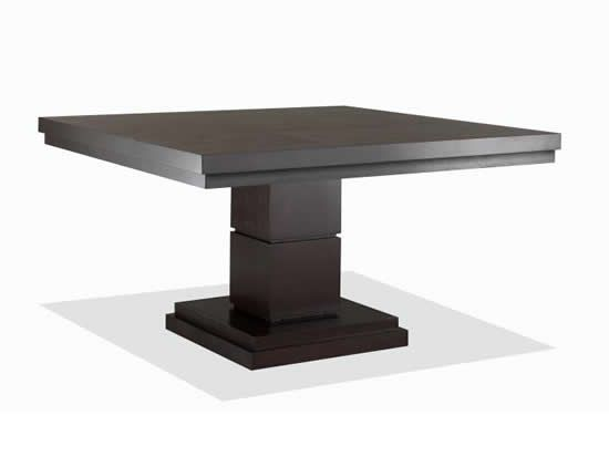 Nikka Square Dining Table In Dark Wood Finish By Klaussner