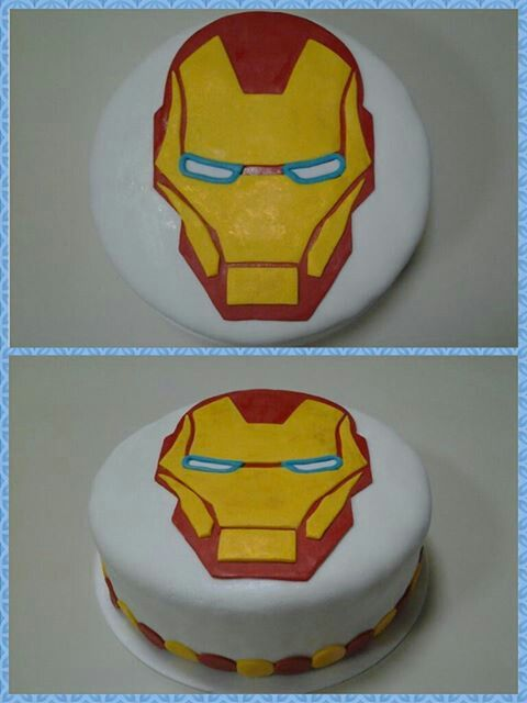Iron Man Cake by Mil Formas Mil Colores!