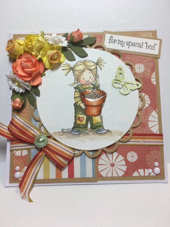 Birthday Card For Her A Special Girl Fancy Handmade Greeting 3D