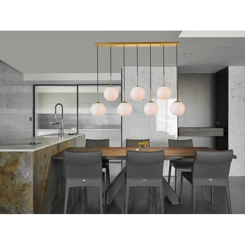 Mercury Row Yearwood 7 Light Kitchen Island Pendant Reviews Wayfair Elegant Lighting Globe Pendant Kitchen Island Pendants