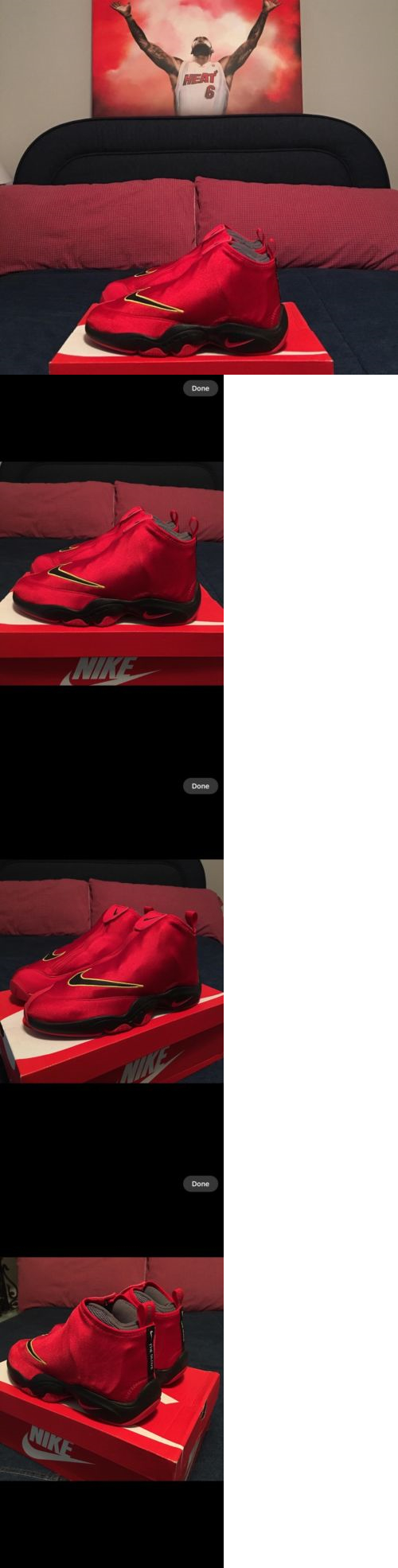 0a3afd44ee706 Mens Shoes 45054  Nike Air Zoom Flight The Glove University Red Black Grey  Sz 10.5