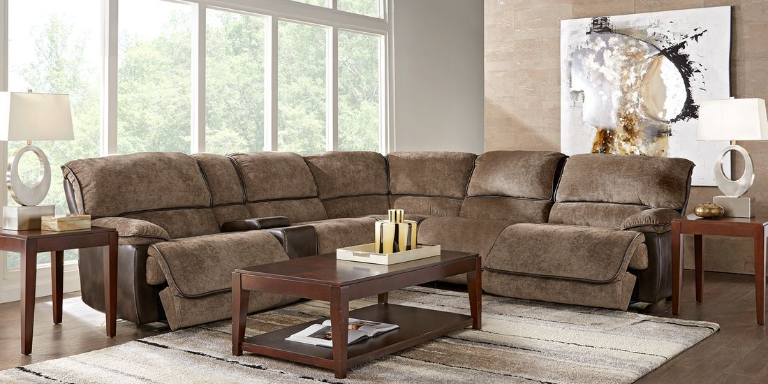 Riverbrook Coffee 6 Pc Reclining Sectional Living Room Sets Furniture Living Room Furniture Furniture