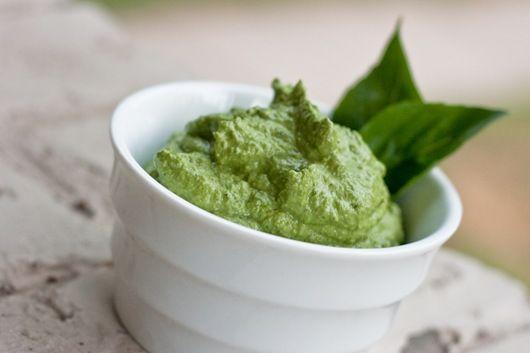 Rhonda's Basil Pesto - Plant-Based Diet #pesto #basil #healthyliving