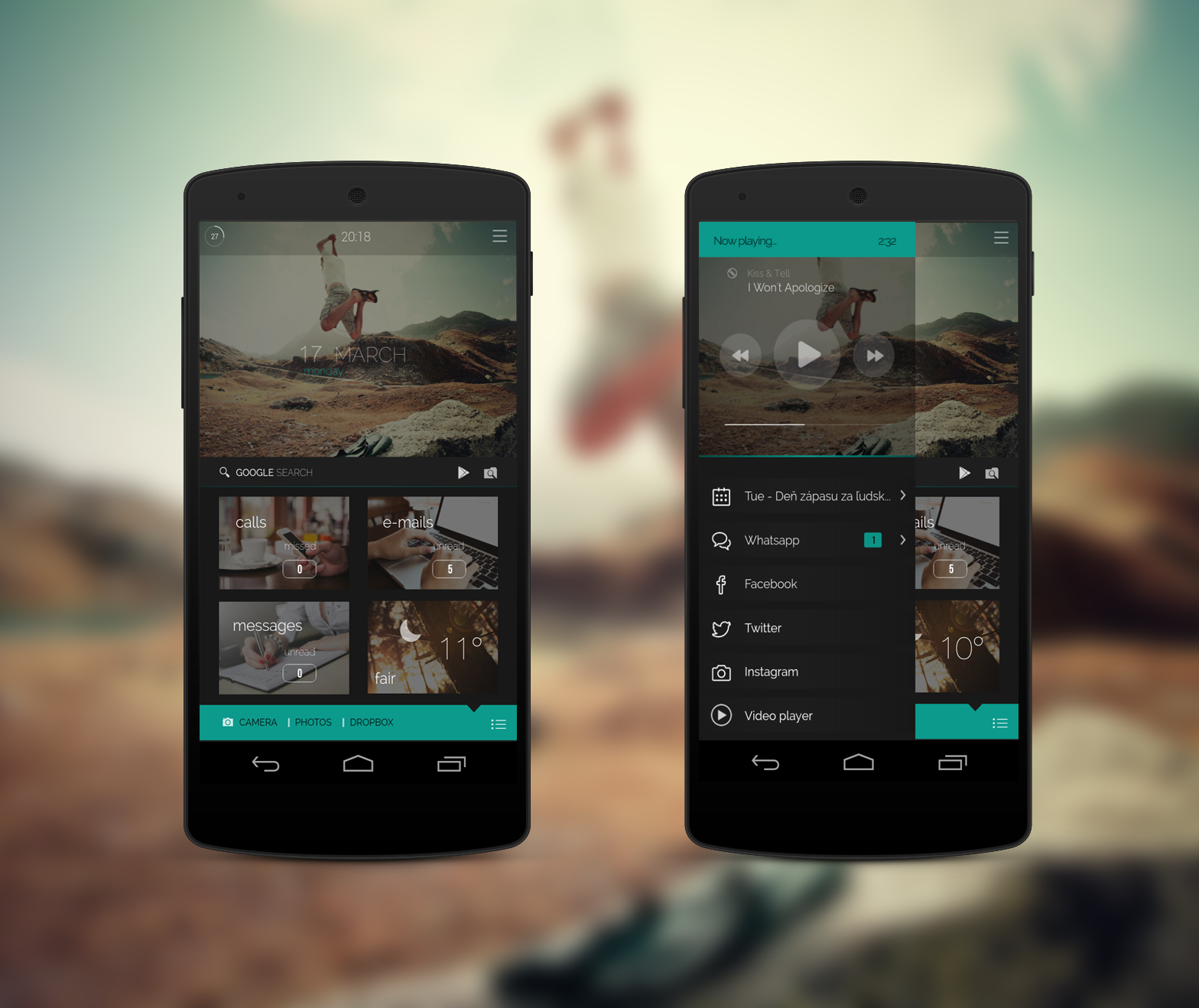 Superb FlAir Android Homescreen By 21MaRcO12 #android #homescreen #uidesign