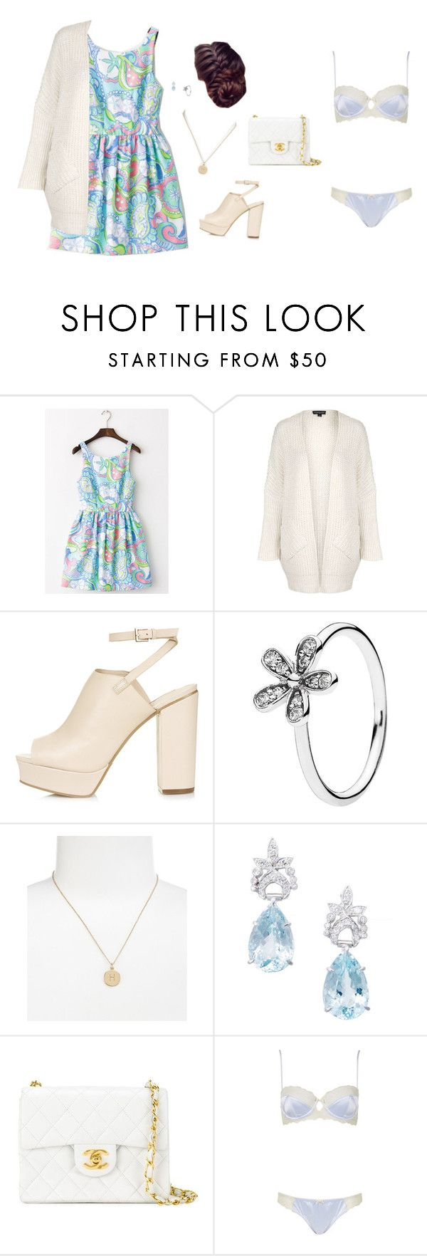 """""""4.19.16"""" by alamort-rcm ❤ liked on Polyvore featuring Topshop, Pandora, Kate Spade and Chanel"""
