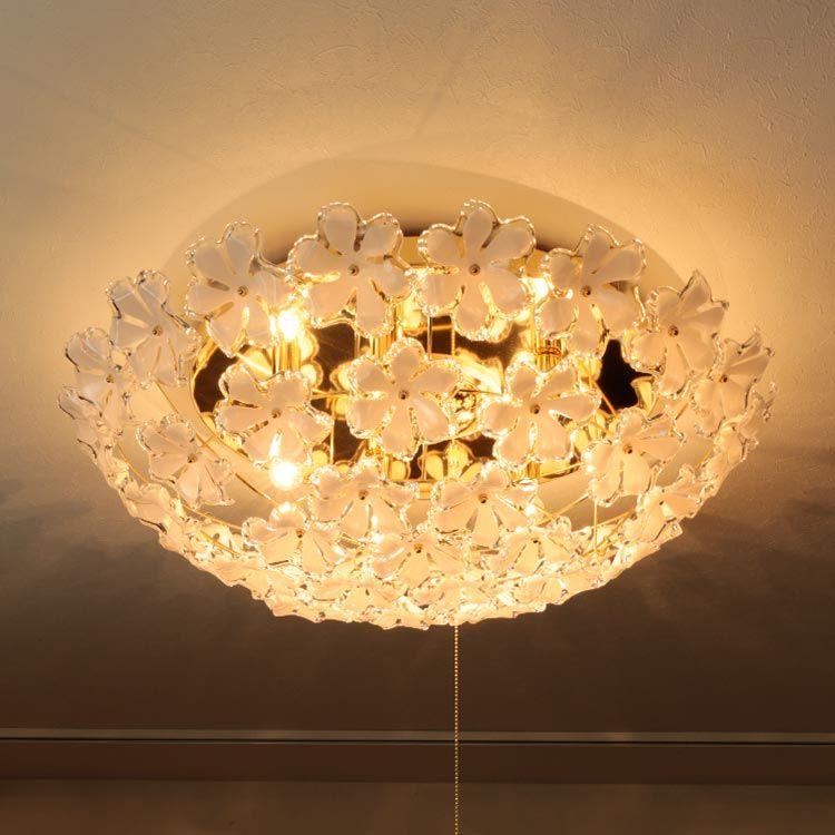 楽天市場 照明 シーリングライト 5灯 お花 の シャンデリア ブルーム