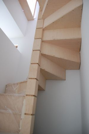 Cool but the problem with spiral staircases is that you for Square spiral staircase plans