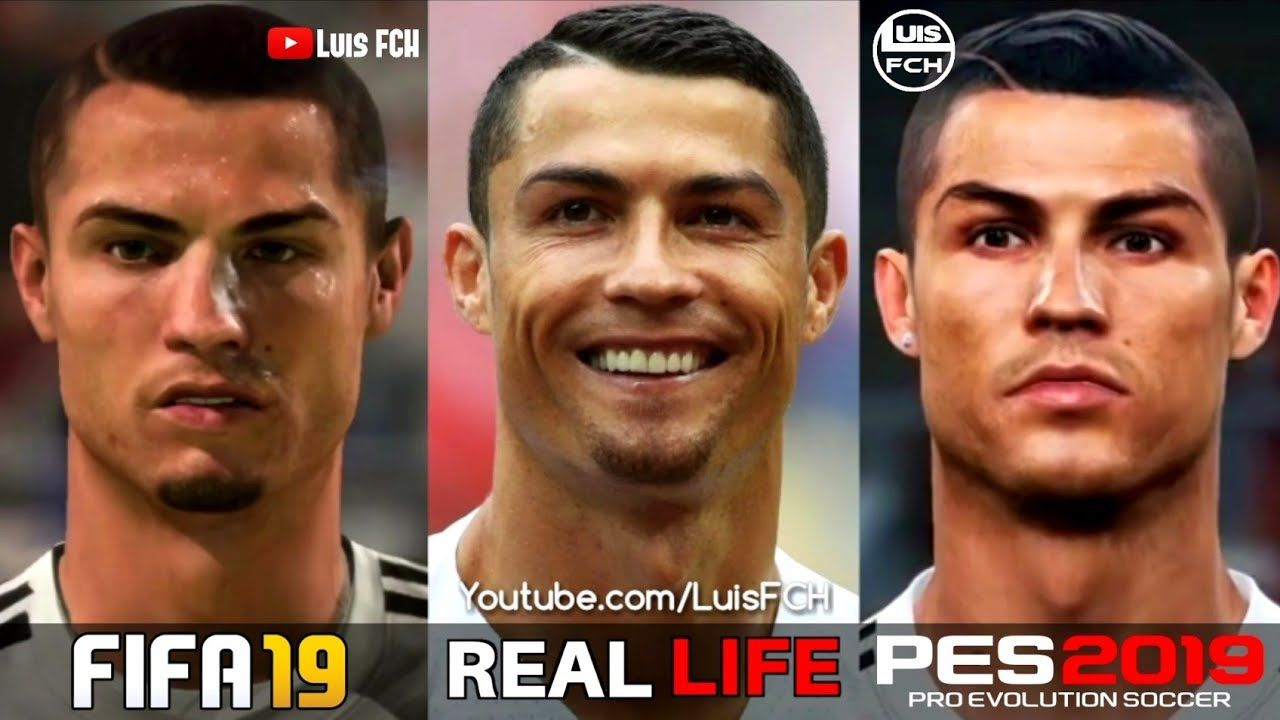 Real madrid face pes 2019