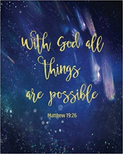 With God All Things Are Possible 160 Blank Lined Page Softcover - lined page