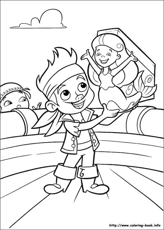 Jake and the Never Land Pirates coloring picture | Disney ...