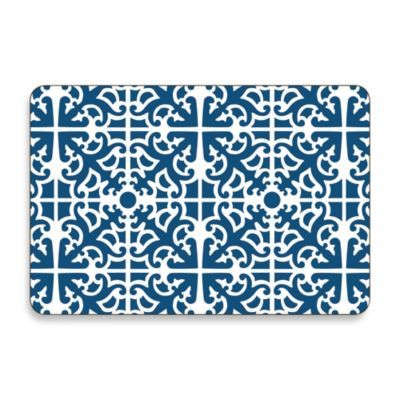 Jason Parterre Blue Hardboard Cork Backed 194 Placemats Set