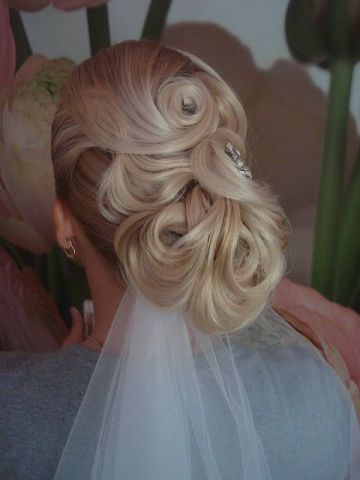 Stunning Collected Hair With A Veil Hot Sexy Hairstyles