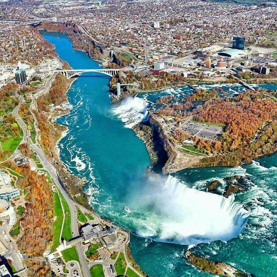 Niagara Falls Ville Paysage Paysage Voyage Et Chutes De Niagara