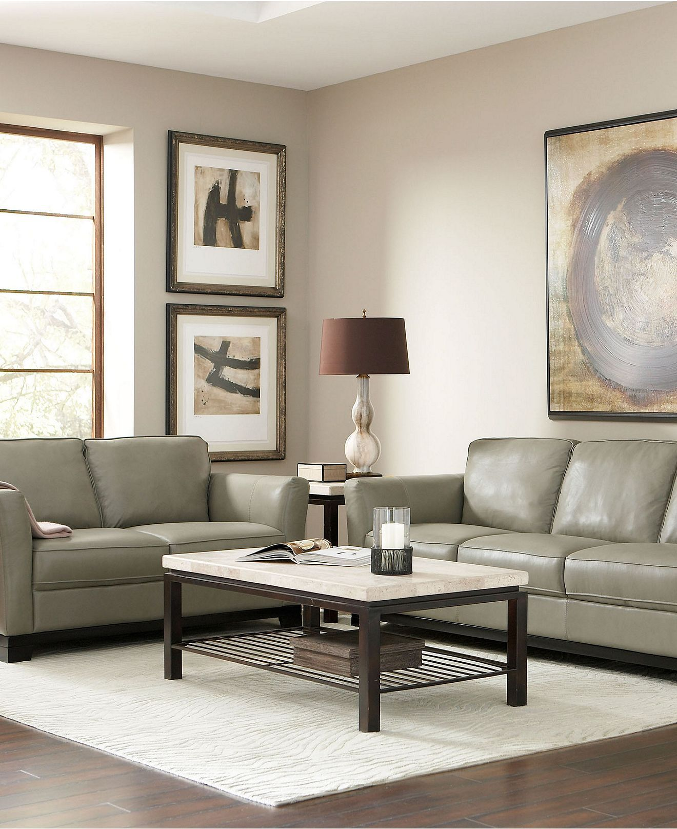 Turin Leather Living Room Furniture Sets & Pieces - Living ...