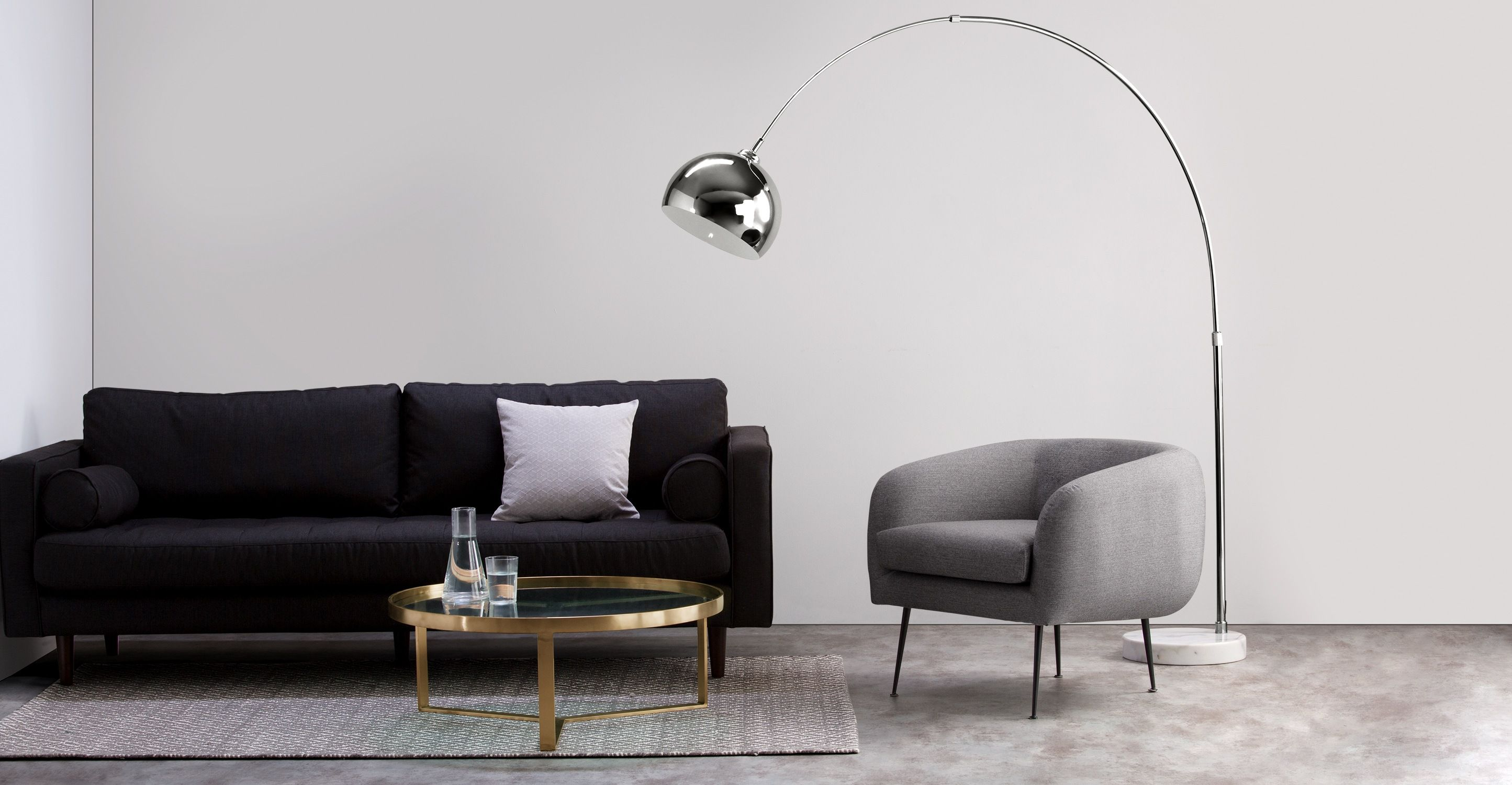 Terrific Bow Large Floor Lamp Chrome And White Marble Mid Century Download Free Architecture Designs Grimeyleaguecom