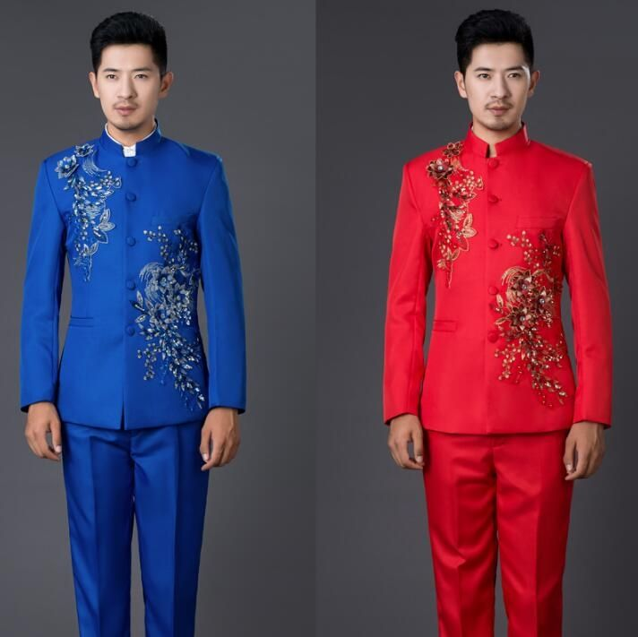 Blazer men formal dress latest coat pant designs chinese tunic suit ...