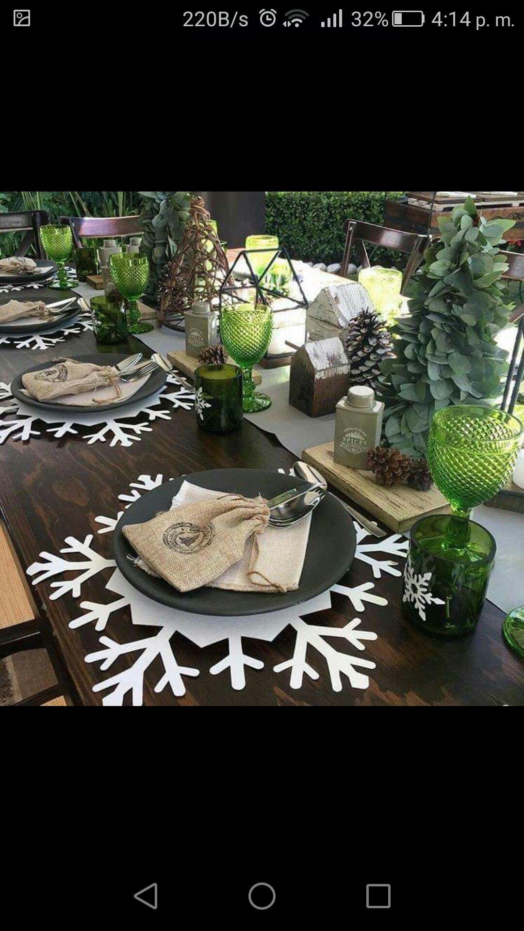 Paper snowflakes table charger Karácsony Pinterest