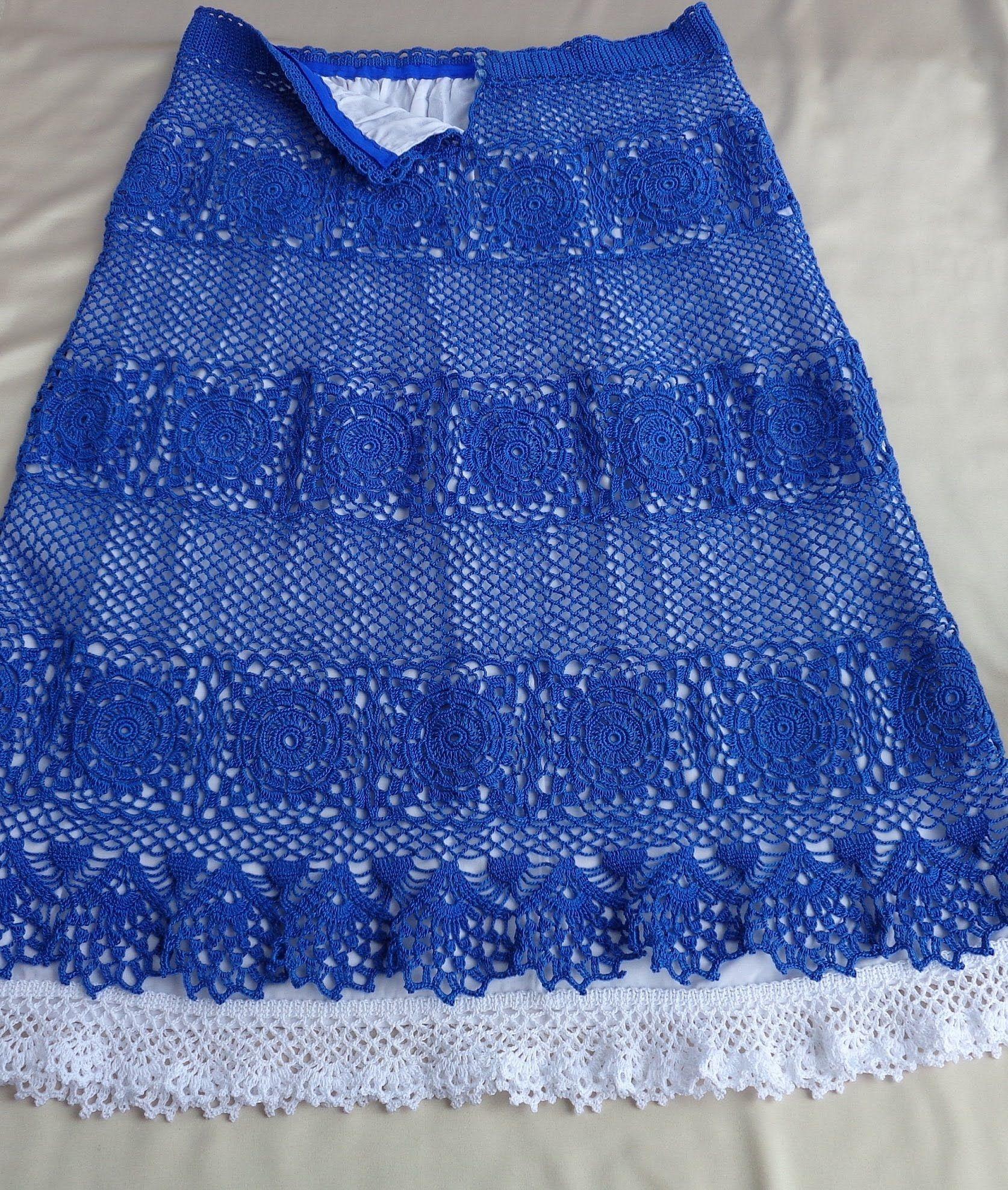 вязание юбка кокетка