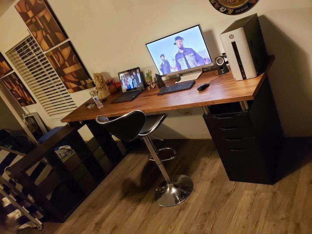 My Ikea 98in Karlby Desk Set Up Einrichten Und Wohnen Wohnen