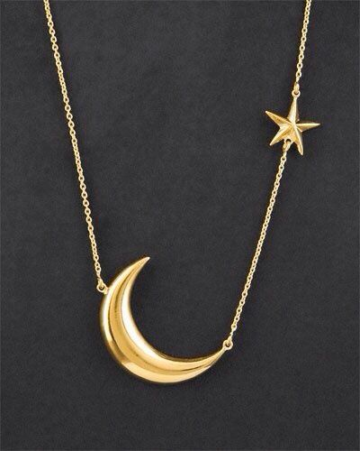 Moon star necklace accessorize pinterest star necklace moon moon star necklace aloadofball Choice Image