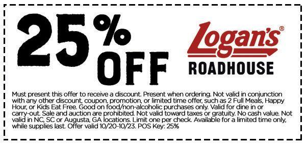 Save 25 At Logan S Roadhouse Logans Roadhouse Logans Roadhouse Logans Roadhouse Coupons Shopping Coupons