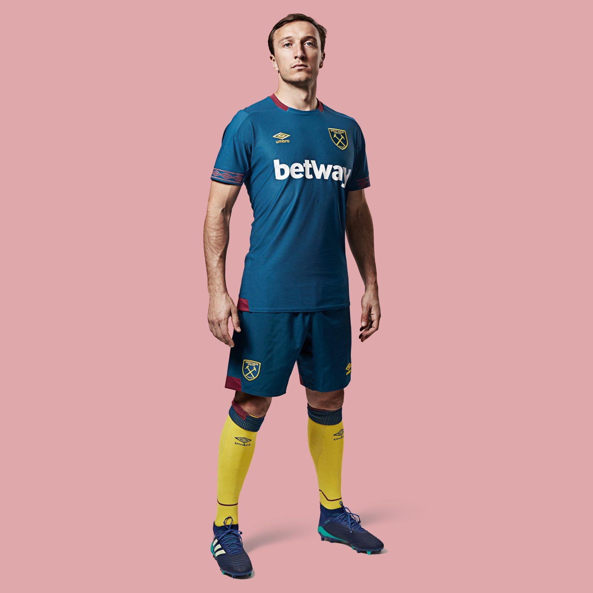 official photos c6775 ac577 West Ham United 2018/2019 Away Kit. | Latest Football Kits ...