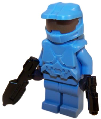 New Custom Light Blue Halo Spartan Master Chief Xbox Block Minifigure Ebay Mini Figures Lego Lego Minifigures
