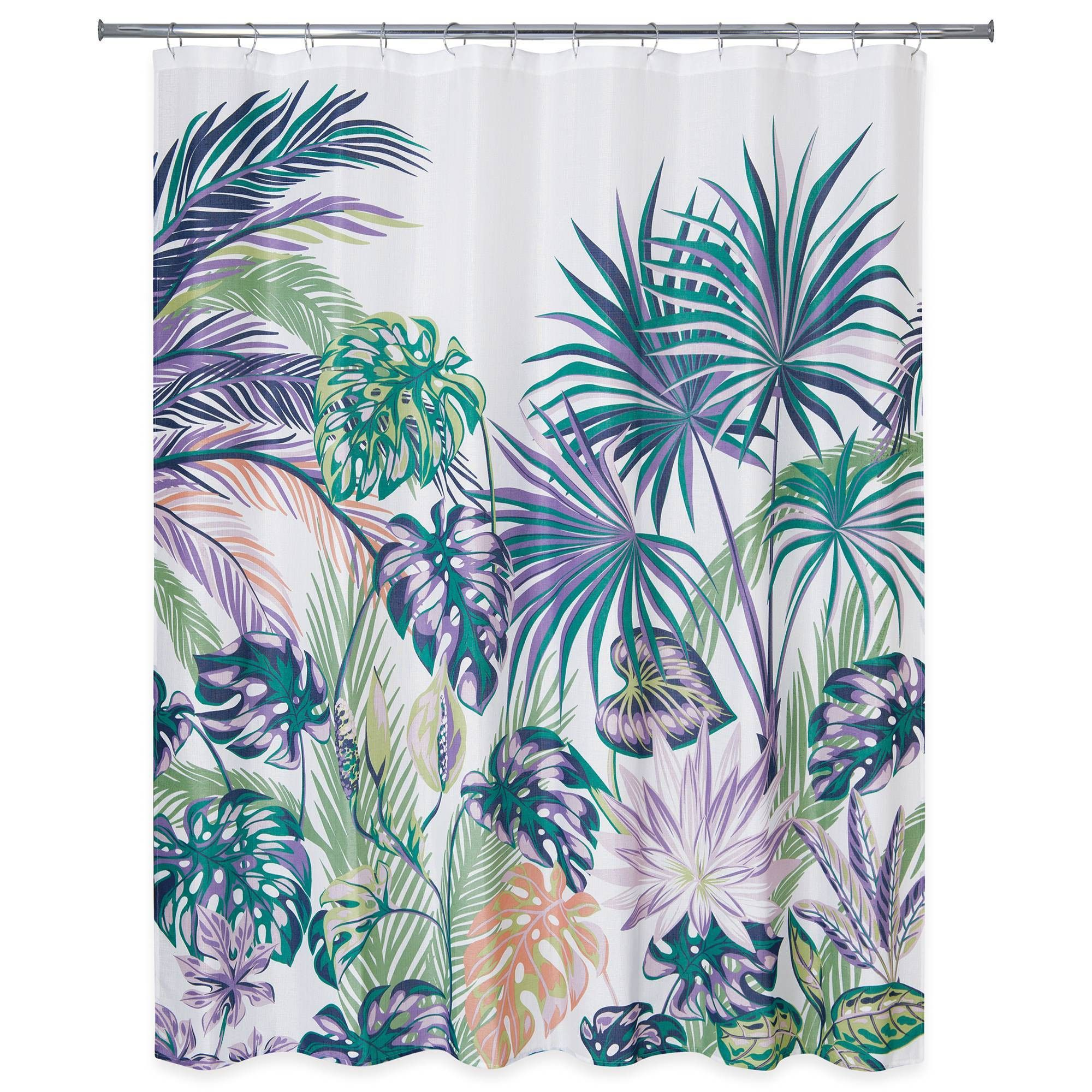 Palm Leaf Shower Curtain Fabric Shower Curtains Long Shower