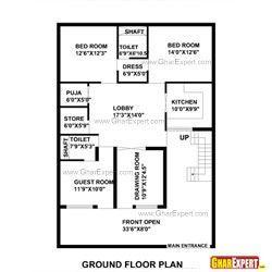 50 Gaj Area House Layout Plan Konsep6