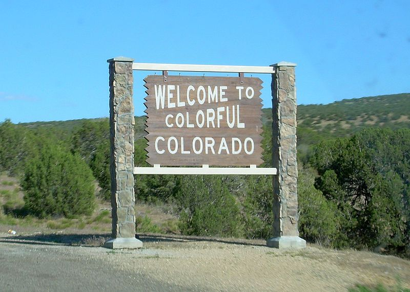 Welcome To Colorful Colorado State Welcome Signs State