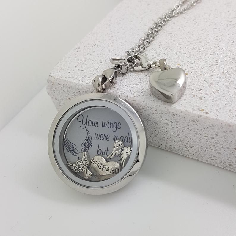 Cremation jewellery ashes keepsake in memory of dad
