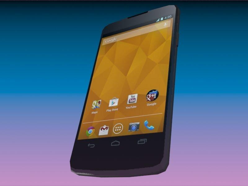 Smartphone Google Nexus 4 Low Poly #Google, #Smartphone